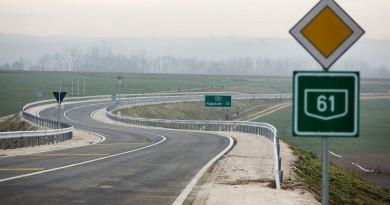 Errefelé kanyarog a ma átadott nagykanizsai keleti elkerülőút
