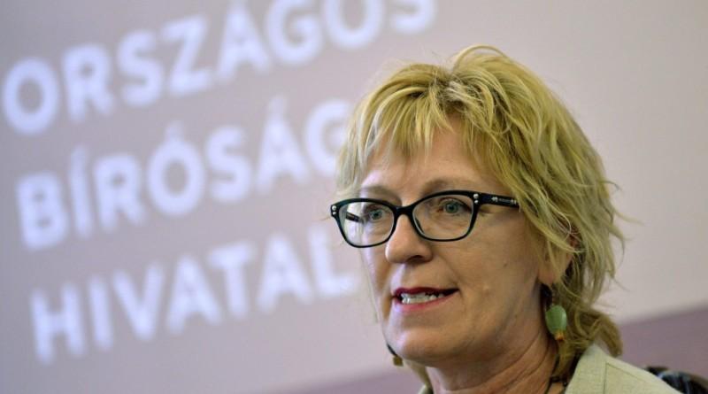 Handó Tünde, az Országos Bírósági Hivatal elnöke. MTI Fotó: Máthé Zoltán