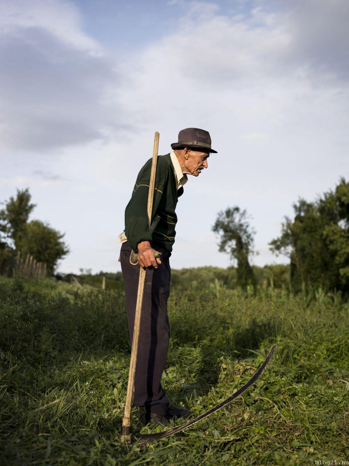 Hirling Bálint, a vs.hu fotóriportere Zsákfalu címû képe, amely elsõ díjat nyert a 34. Magyar Sajtófotó Pályázat emberábrázolás-portré (egyedi) kategóriájában 2016. január 25-én. MTI Fotó: Magyar Sajtófotó Pályázat / Hirling Bálint