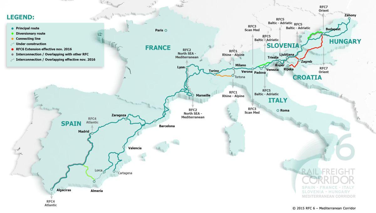 A Mediterrán korridor vasúti árufuvarozási folyosó