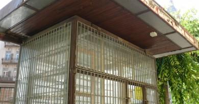 Bezárt újságos Szombathely belvárosában (Fotó: Blog21)
