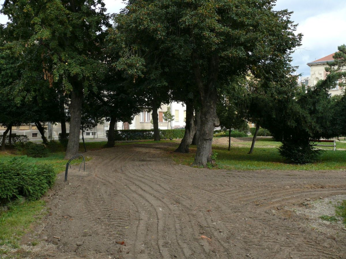 A park is átalakul