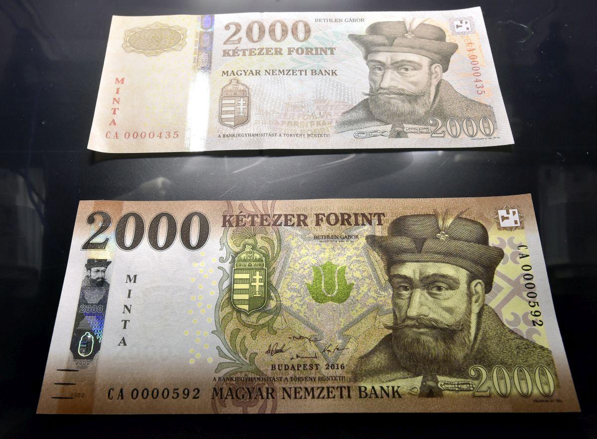 Az új 2000 forintos