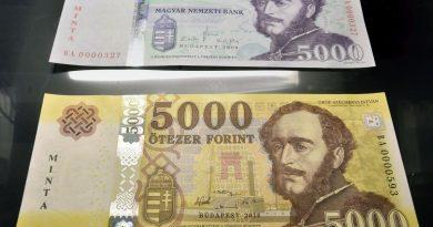 Az új 5000 forintos