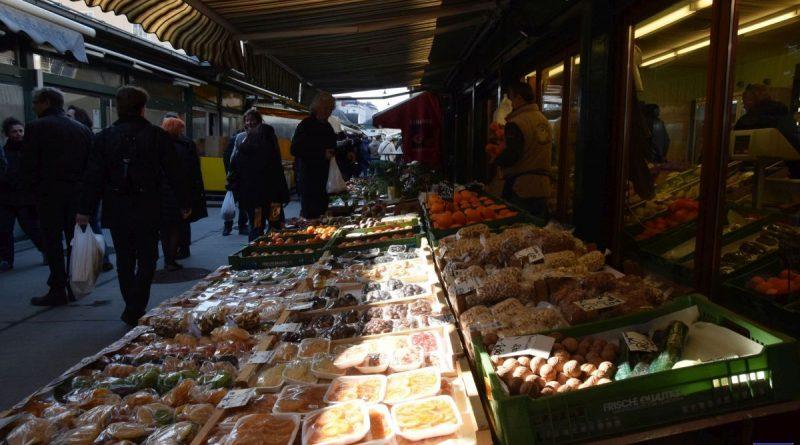 naschmarkt piac Bécs. élelmiszer