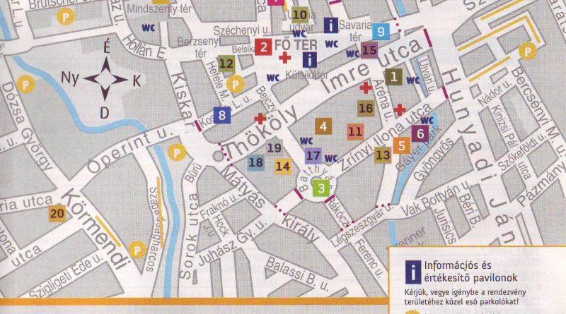 Savaria karnevál térkép